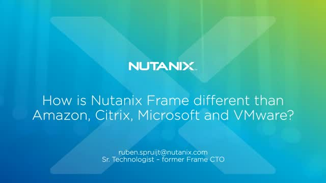How is Frame different than Amazon, Citrix, Microsoft, VMware