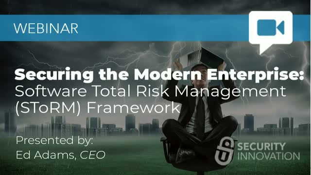 Securing the Modern Enterprise: Software Total Risk Management (SToRM) Framework