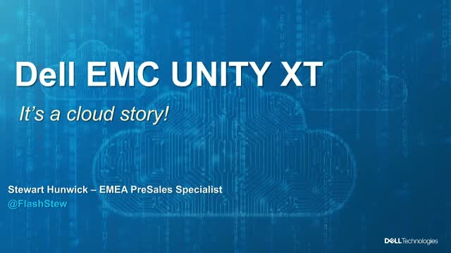 Unity XT: It's Cloud story