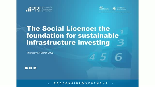 The Social Licence: the foundation for sustainable infrastructure investing