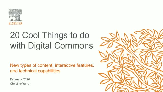 20 Cool Things to do with Digital Commons