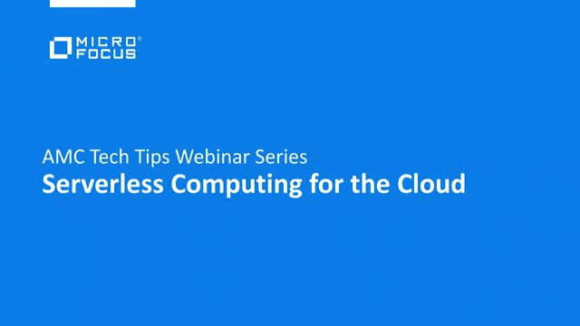 Tech Tips: Serverless Computing for the Cloud