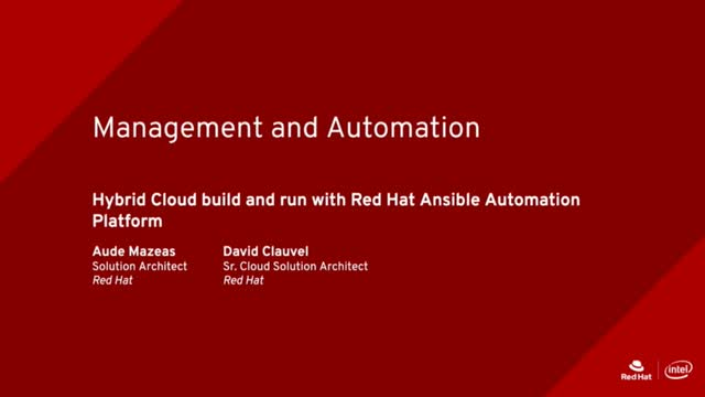 Hybrid Cloud build and run with Red Hat Ansible Automation Platform [French]