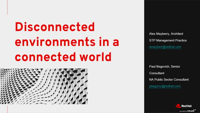 Disconnected environments in a connected world