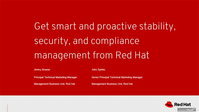 Get smart and proactive stability, security and compliance management