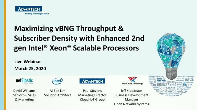 Maximizing vBNG throughput and subscriber density with 2nd generation Intel Xeon