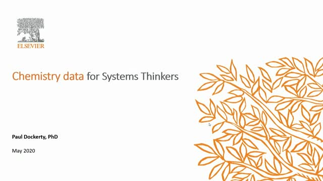 Chemistry Data for Systems Thinkers