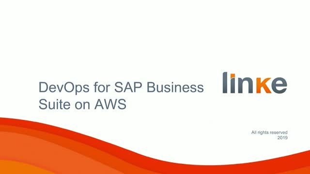 Using the DevOps Model for Managing SAP Business Suite on AWS