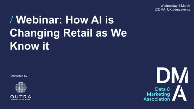 Webinar: How AI is Changing Retail as We Know It
