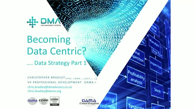 Becoming Data Centric ? … Building a Data Strategy Part 1