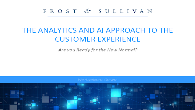 The Analytics and AI Approach to the Customer Experience