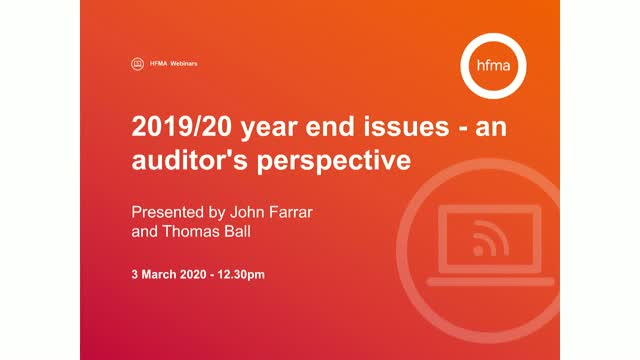 2019/20 year end issues - an auditor's perspective