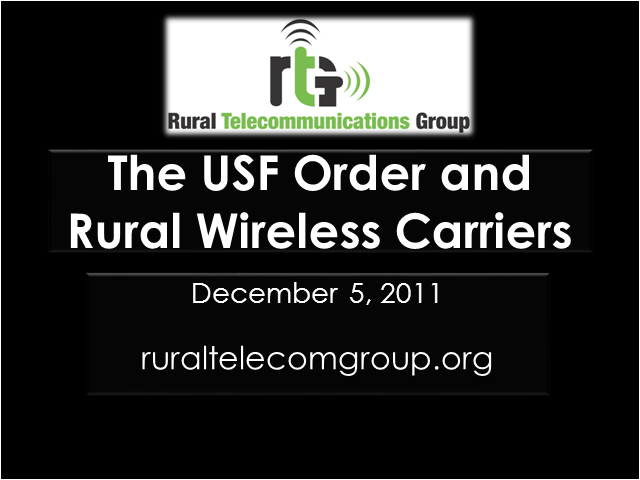 The USF Order and Rural Wireless Carriers