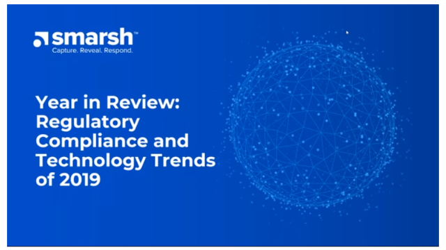 A Year in Review: A Look Back at the Regulatory Compliance and Technology Trends