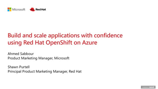 Build and Scale Applications with Confidence using Azure Red Hat OpenShift