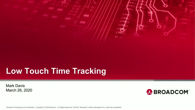 Low Touch Time Tracking