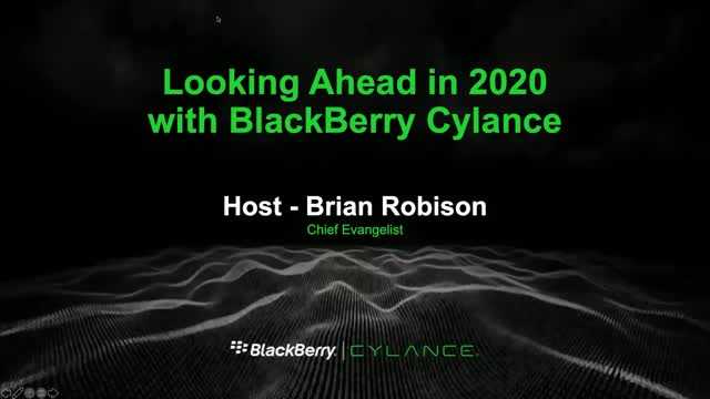 Looking Ahead in 2020 with BlackBerry Cylance
