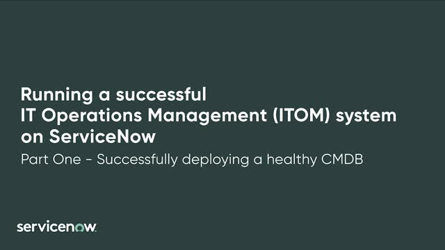 How to Successfully Deploy a Healthy CMDB
