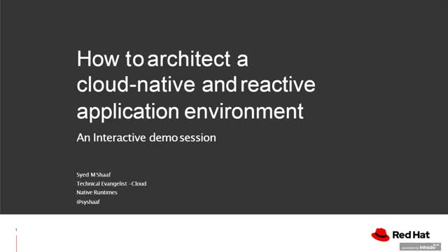 How to architect a cloud-native application environment
