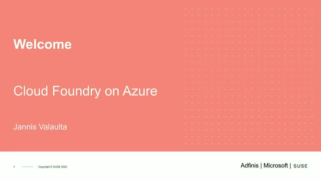 Adfinis, Microsoft and SUSE: Cloud Foundry on Azure
