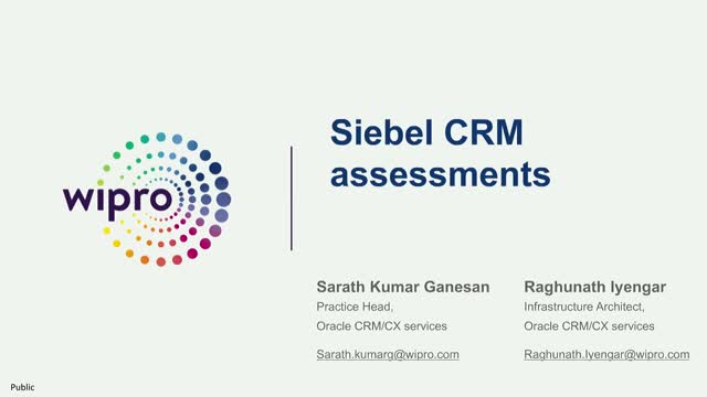 Cost optimization and enhanced experience with Siebel 20