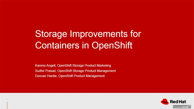 Storage Improvements for Containers (Technical Webinar)