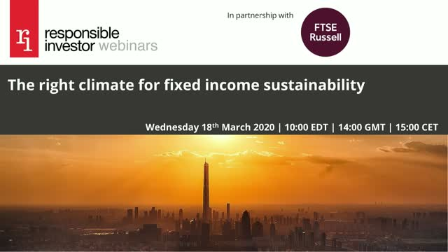 The right climate for fixed income sustainability
