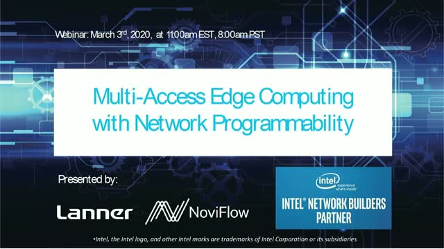 Multi-Access Edge Computing with Network Programmability