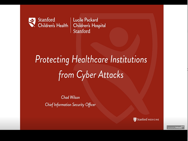 Protecting Healthcare Institutions from Cyber Attacks