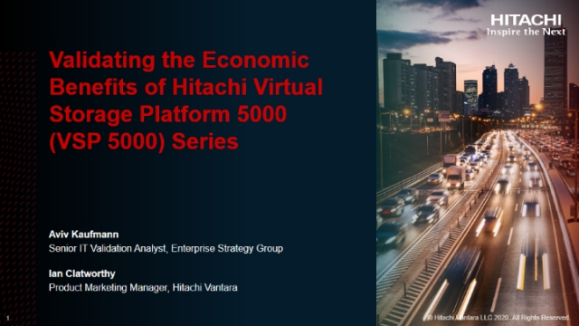 Validating the Economic Benefits of Hitachi Virtual Storage Platform 5000 Series