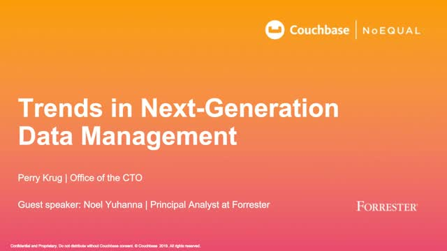 Trends in Next-Generation Data Management