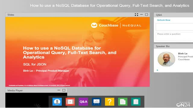 How to use a NoSQL Database for Operational Query, Full-Text Search & Analytics