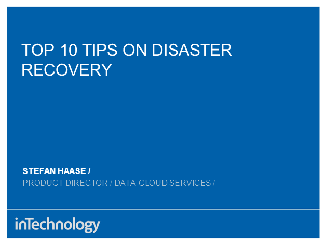 10 Tips for Disaster Recovery Planning