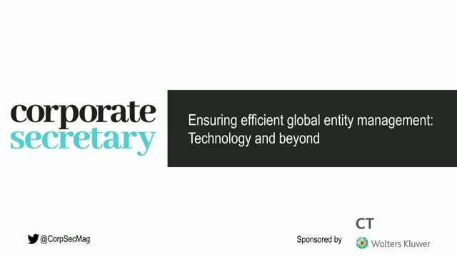Corporate Secretary Webinar – Ensuring efficient global entity management
