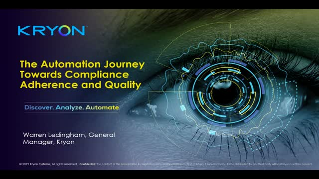 The Automation Journey Towards Compliance Adherence and Quality