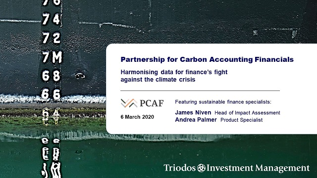 PCAF: Harmonising data for finance's fight against the climate crisis