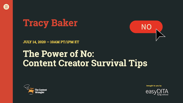 The Power of No: Content Creator Survival Tips
