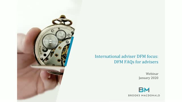 International adviser focus: Quickfire DFM FAQs