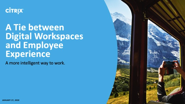 The Tie Between Modern Digital Workspaces and Employee Experience