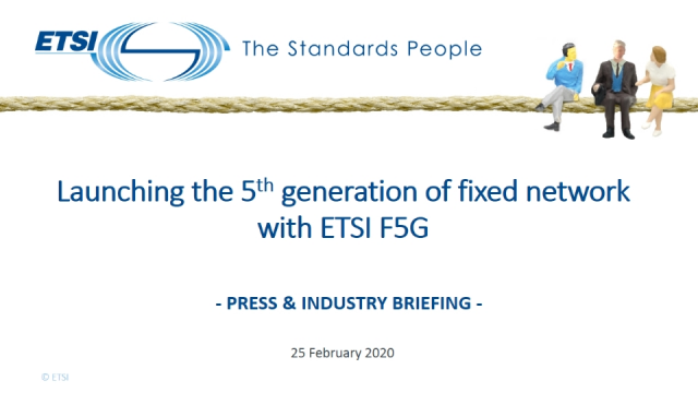 Launching the 5th generation of fixed network with ETSI F5G.