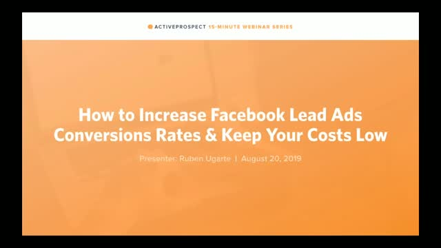 How to Increase Facebook Lead Ads Conversions and Keep Costs Low
