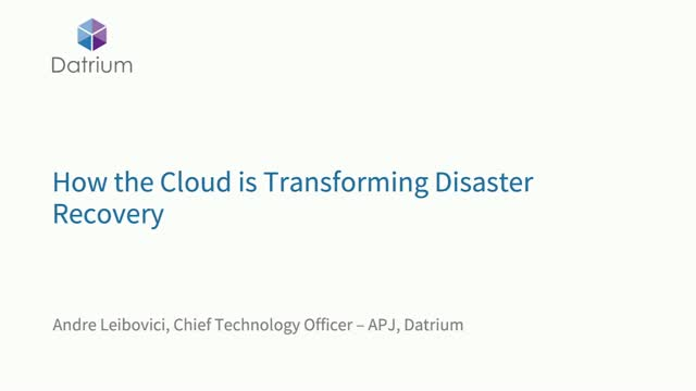 Top Considerations for On-Demand Cloud Native Disaster Recovery