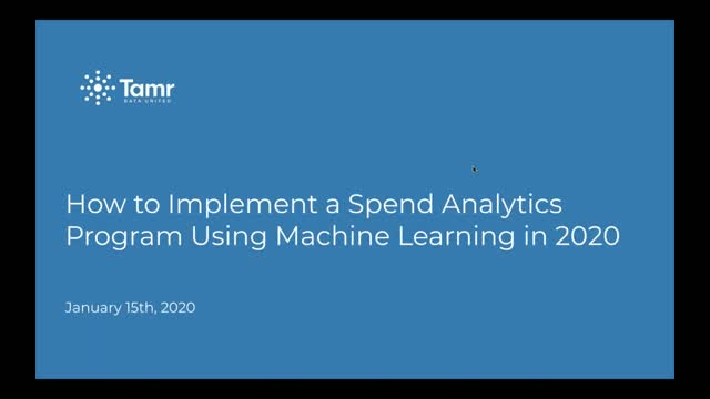 How to Implement a Spend Analytics Program Using Machine Learning