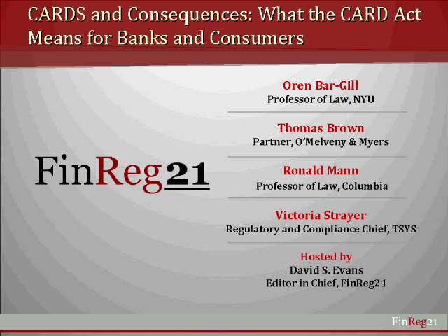 CARDS and Consequences: The CARD ACT for banks and cosumers