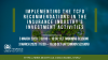 Implementing TCFD recommendations in insurance industry investment activities