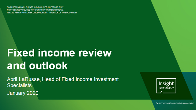 Fixed income review and outlook | January