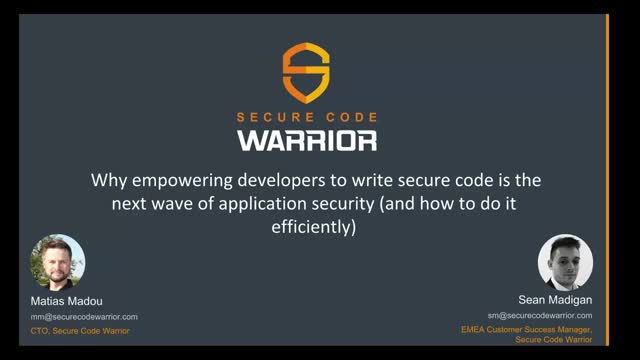 Empower Your Developers to Write Secure Code