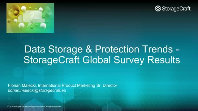 Data Storage & Protection Trends - StorageCraft Global Survey Results