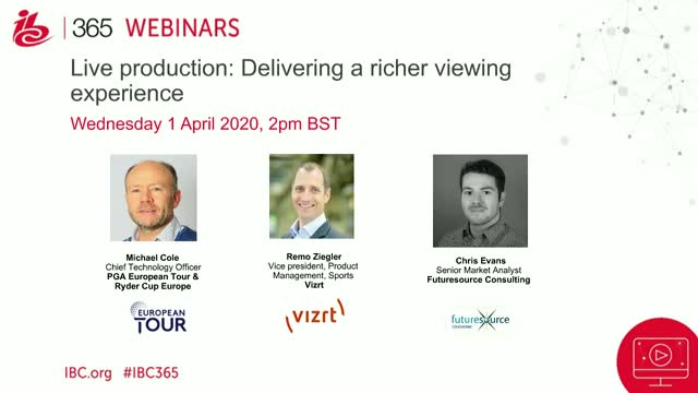 Live production: Delivering a richer viewing experience