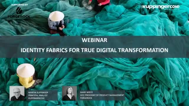 Identity Fabrics for True Digital Transformation